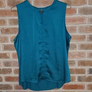 💚4/$30 The Limited Teal Blouse with Clasp